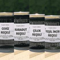 Doğal Reçel Paketi Ceviz,Karadut,Çilek,Yeşil İncir Reçeli